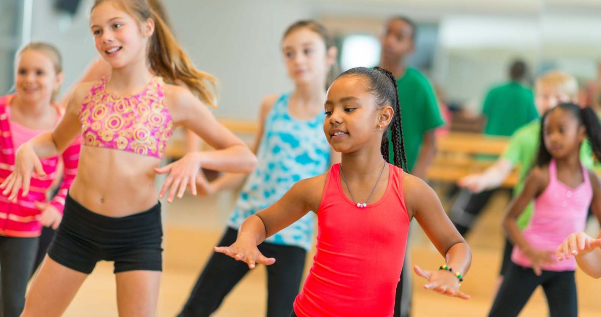 pre teen girls dancing in dance class at Schafer Sports Center