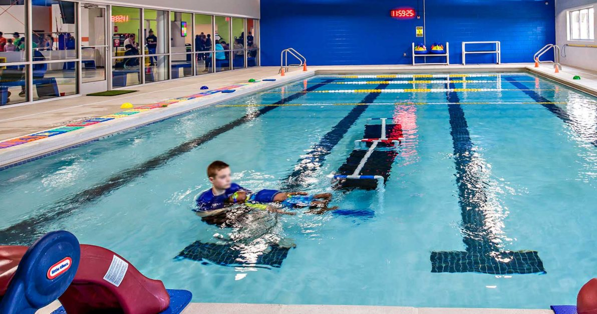 Heated pool at Schafer Sports for Swim lessons, special needs swim lessons, Swim Evaluations, infant and toddler swim lessons